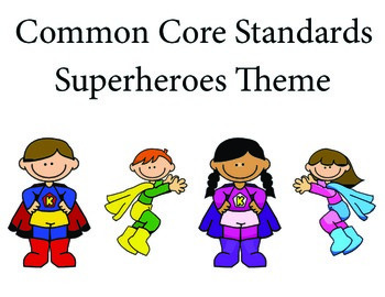 Superheroes 3rd grade English Common core standards posters