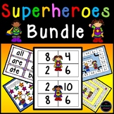 Superheroes Addition, Subtraction and Sight Words Bundle