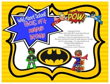 Superheroes Batman FACES of a Reader Posters