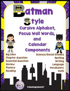 Superheroes Batman Style Focus Wall and Alphabet Set