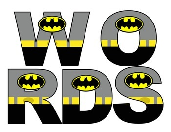Superheroes Batman Word Wall Set