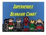 Superheroes Behavior Chart