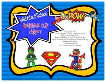 Superheroes Behavior Clip Charts