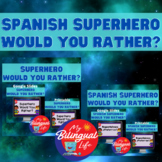 Superheroes Bilingual Would You Rather? Bundle in English