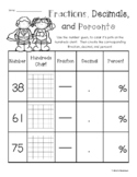 Superheroes - Blank Hundreds Chart: Fractions / Decimals /