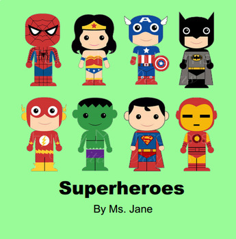 Superheroes Book (SmartBoard Read Aloud with Sounds!)