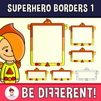 Superhero Borders Clipart 1