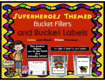 Superheroes Bucket Fillers and Labels