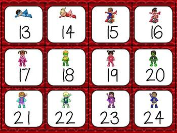 Superheroes Calendar Set