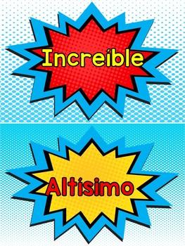 Superhéroes - Cartel de conducta