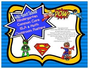 Superheroes Superman Classroom Common Core Posters