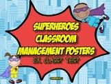 Superheroes Classroom Managment Posters