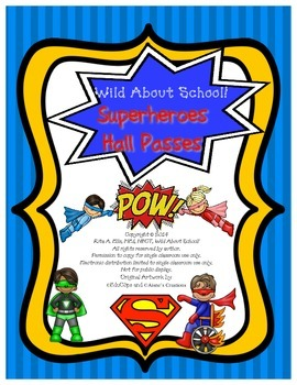 Superheroes Classroom Passes