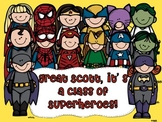 Superheroes Editable Classroom Theme