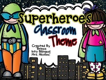 Superheroes Classroom Theme (Including Spanish Alphabet and more)