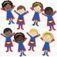 Superheroes Clip Art (Digital Use Ok!)