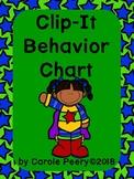 Superheroes Clip It Behavior Chart