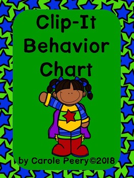 Superheroes Clip It Behavior Chart