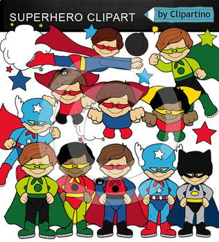 Superheroes Clipart Bundle-70 item