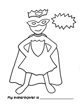 Superheroes Coloring Page