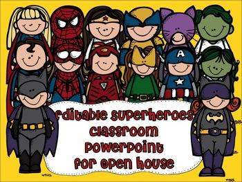 Superheroes Editable PowerPoint for Open House