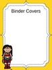 Superheroes Editable Templates and Binder Covers