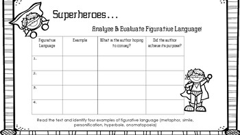 Superheroes Figurative Language