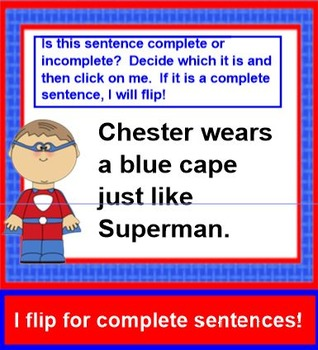 Superheroes Flip For Sentences