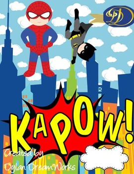Superheroes & Friends  Kapow (Assorted Adventures  Binder Covers 10 PK)