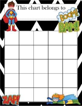 Superheroes Incentive Chart