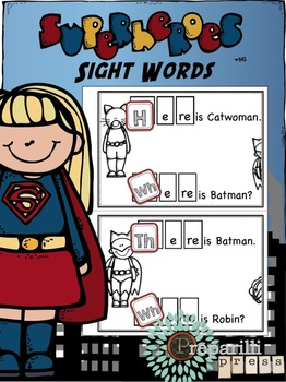 Superheroes Responsive Reader (WHERE, HERE, THERE) More Than Sight Words