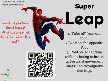 Superheroes Locomotor Movements