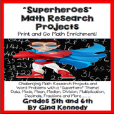 Superheroes Math Projects and Word Problems for Upper Elementary!
