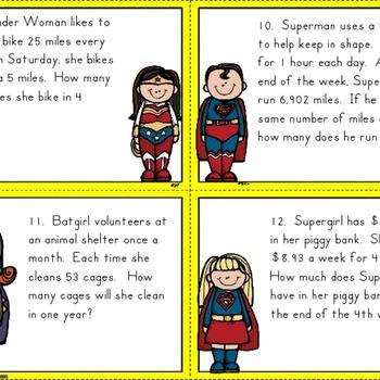 Superheroes - Multi-Step Word Problems