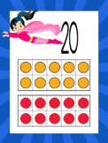 Superheroes Number Posters with pink