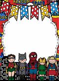 Superheroes Paper