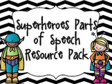 Superheroes Parts of Speech Resource Pack