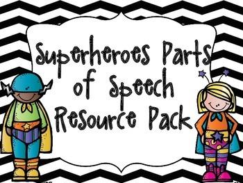 Superheroes Parts of Speech Resource Pack