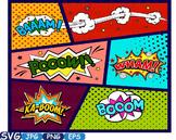 Superheroes Pop Art Text Props Comic Speech Bubble clipart Party Bunting -274S