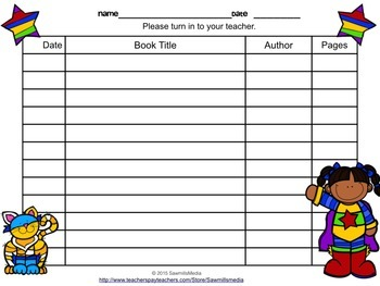 Superheroes Read!   Bookmarks, Reading Logs, Posters, and More