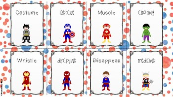Superheroes Say their Sounds