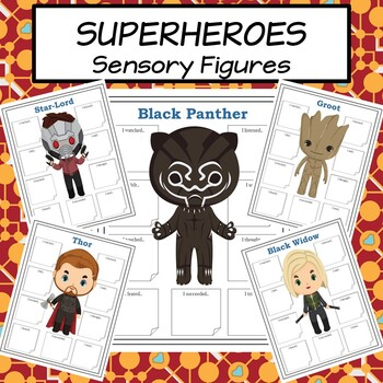Superheroes Sensory Figures for Character Analysis