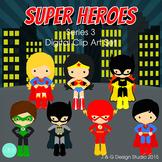 Superheroes Series 3, Children Digital Clipart