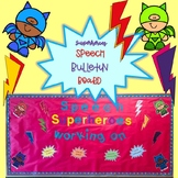 Superheroes Speech Bulletin Board