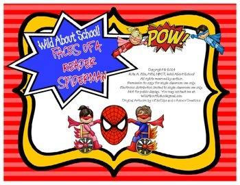 Superheroes Spiderman FACES of a Reader Posters