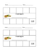 Superheroes Sticker Chart/Token Board