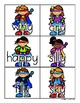 Superheroes: Super-Y Card Sort and Worksheet (Y as a Long
