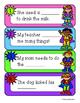 Superheroes: Superheroes Sentence - Word Match and Worksheet (-aw / -au )