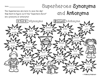 Superheroes Synonyms and Antonyms