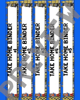 """Superheroes Take Home Binder Cover with 1.5"""" Spine Labels"""